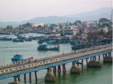 View over the fishingvillage at Nda Trang