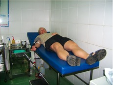 Donating blood in Phnom Penh