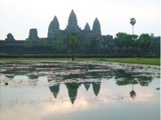 Ankor Wat just before sunrise